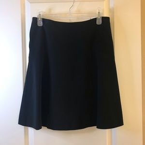 TAHARI Dark Navy A-Line Skirt